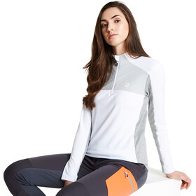 Dare 2b Default Camiseta Core Stretch Mujer, white/argent grey/ash grey marl
